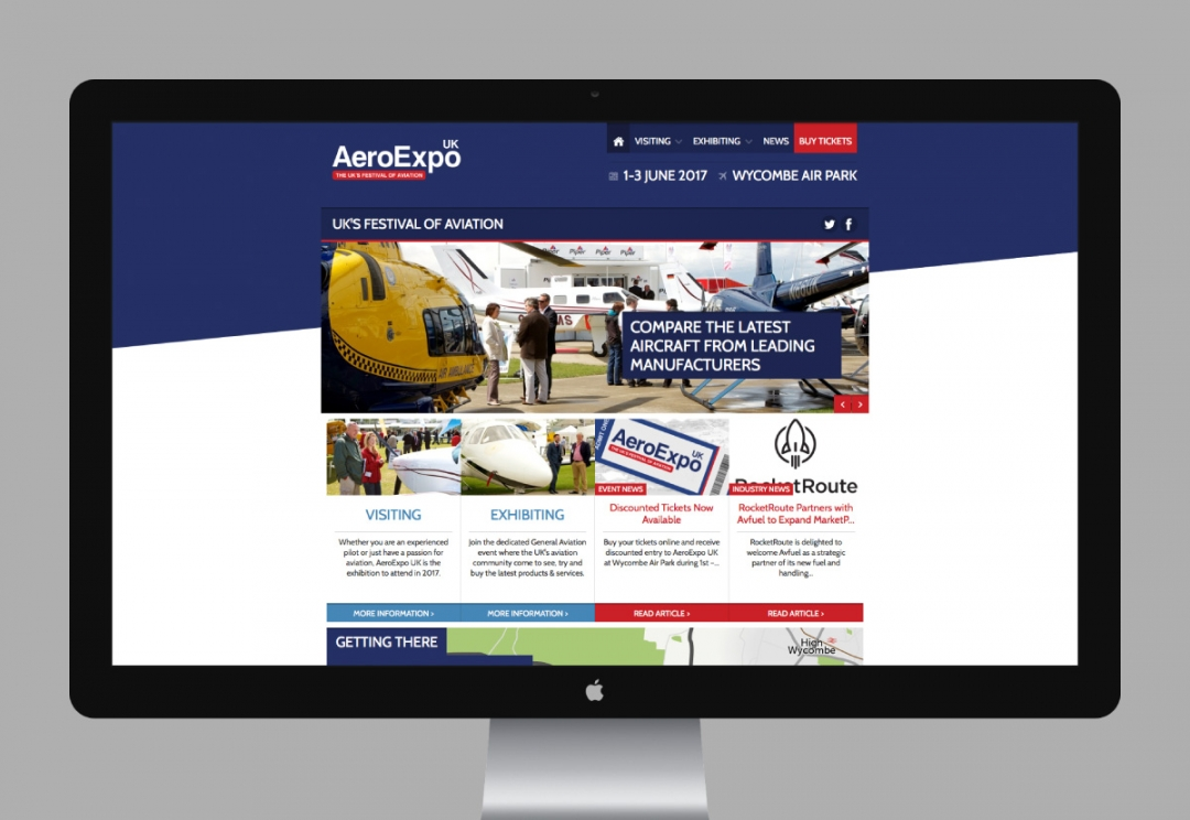 Aviation event website design