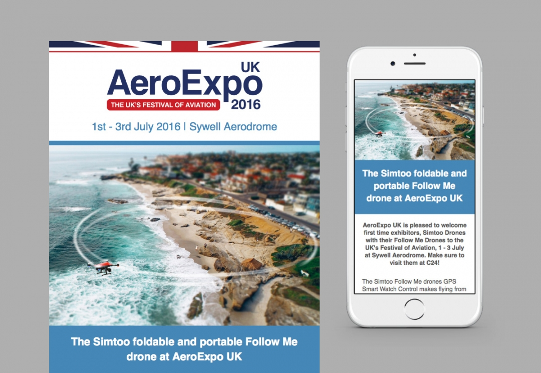 Aviation event email template design