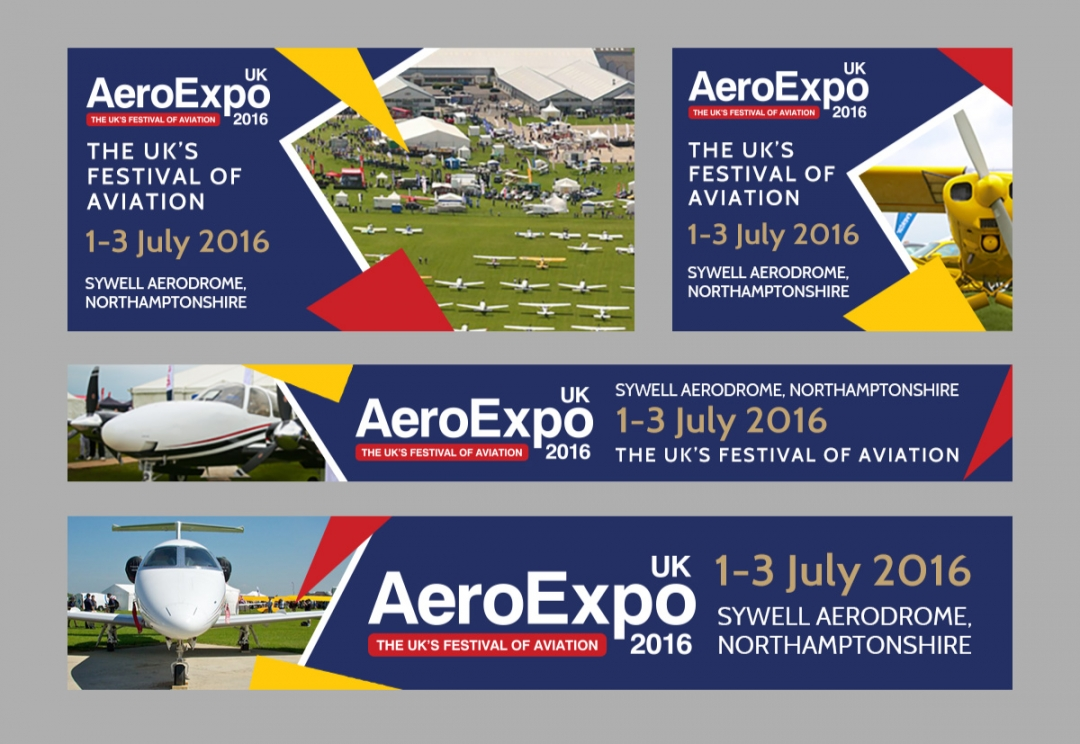 Aviation event web banners