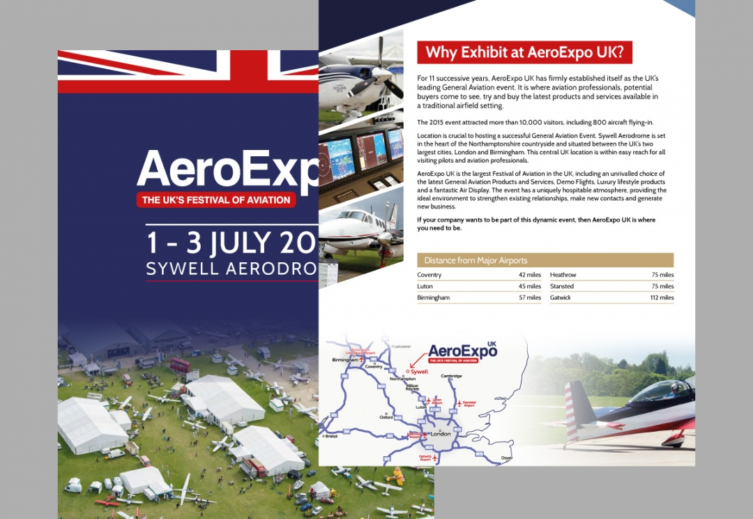 Aviation event print brochure design