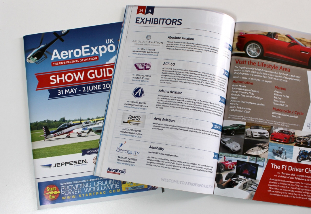 Aviation event show guide design