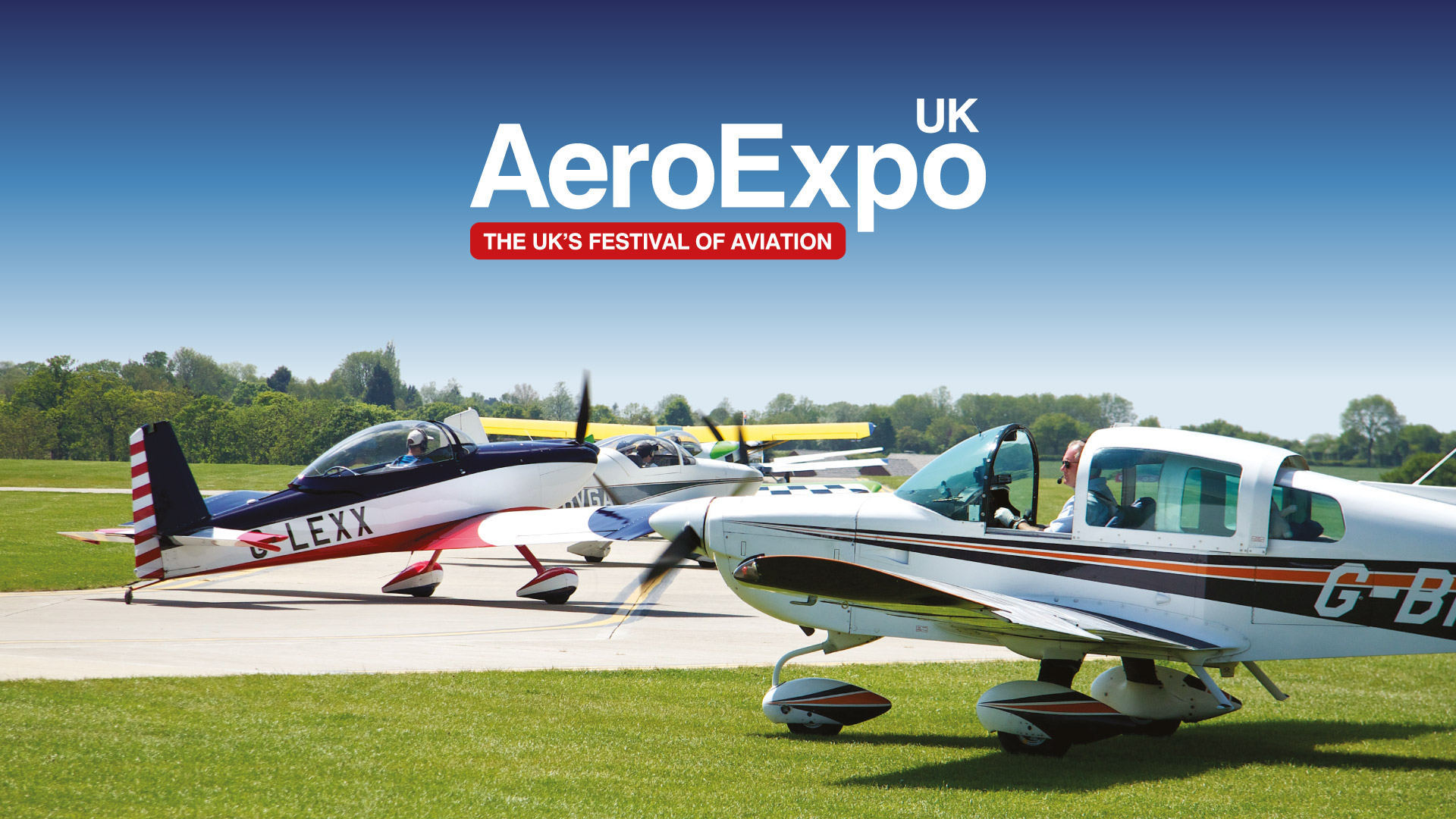 Aviation event print and website design