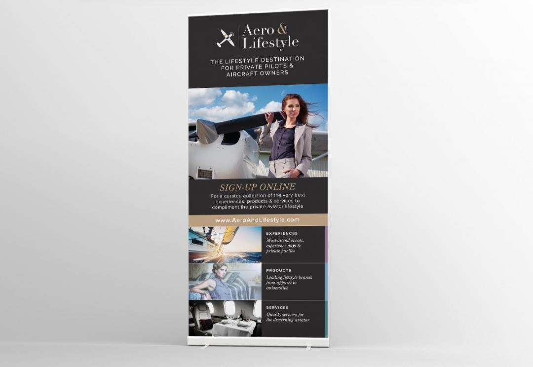 Online store roller banner design