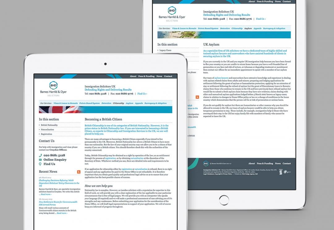 Solicitors website design
