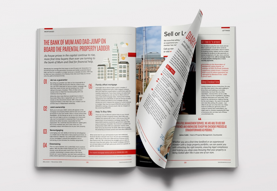 Property magazine editorial design