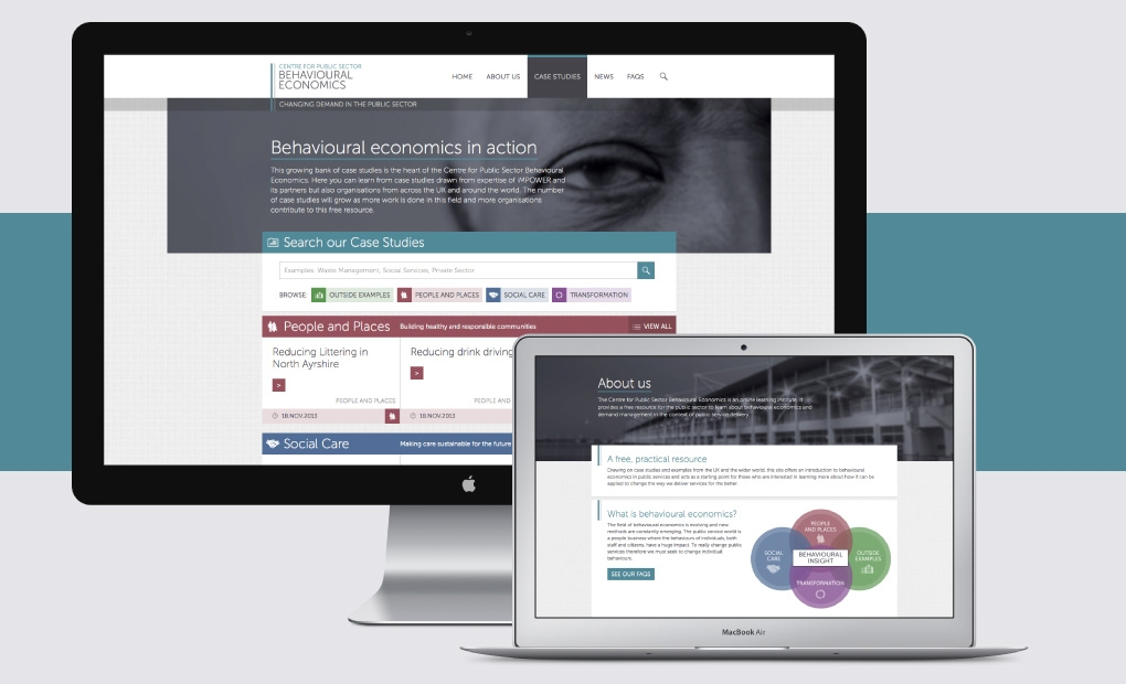 Public services consultancy website design