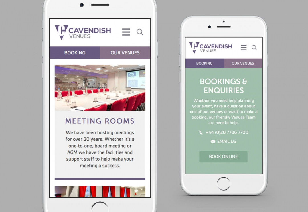 Conference venues responsive website design