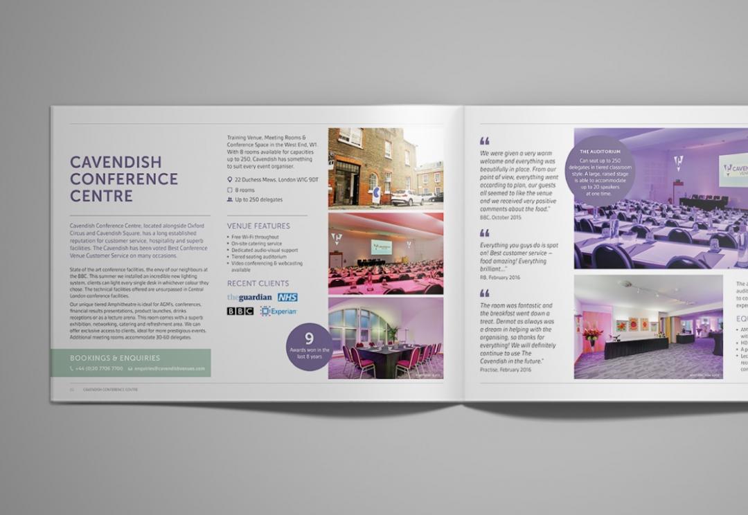 Conference venues brochure design