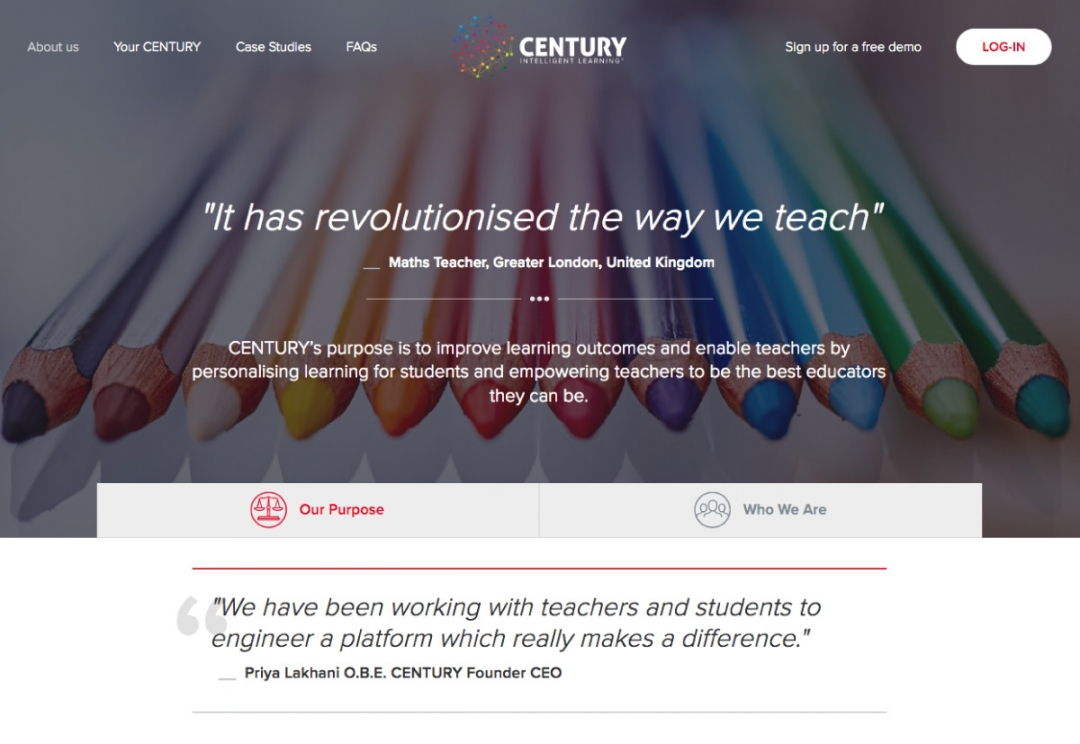 Education technology website design