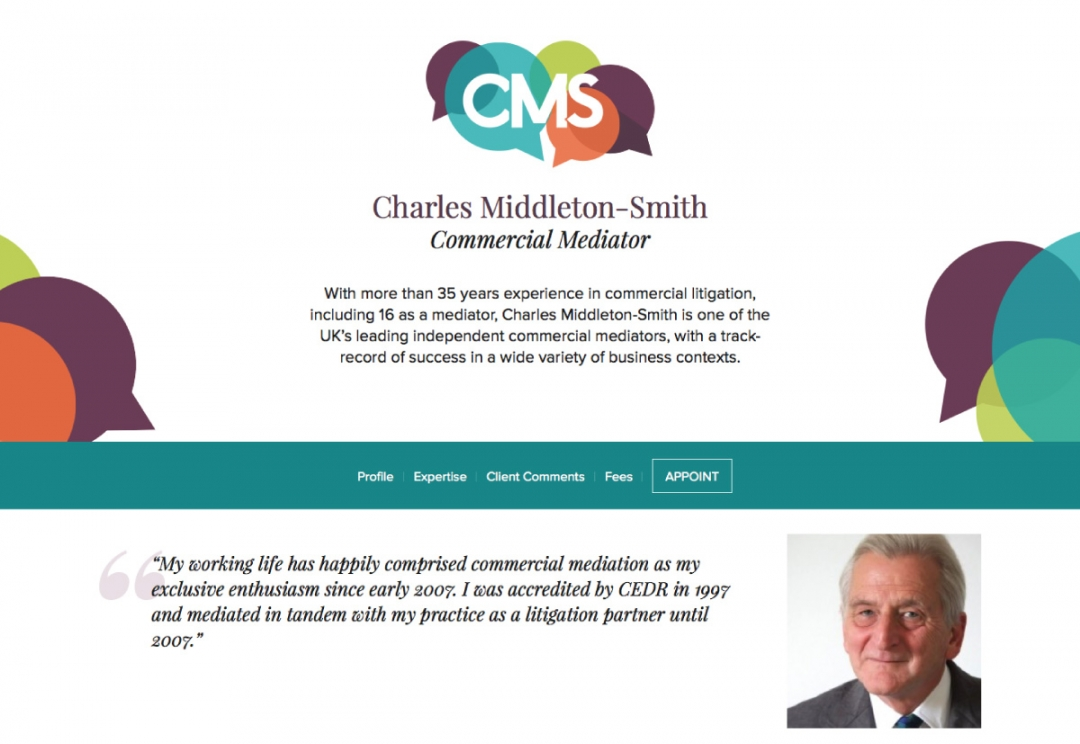 Commercial mediator website design