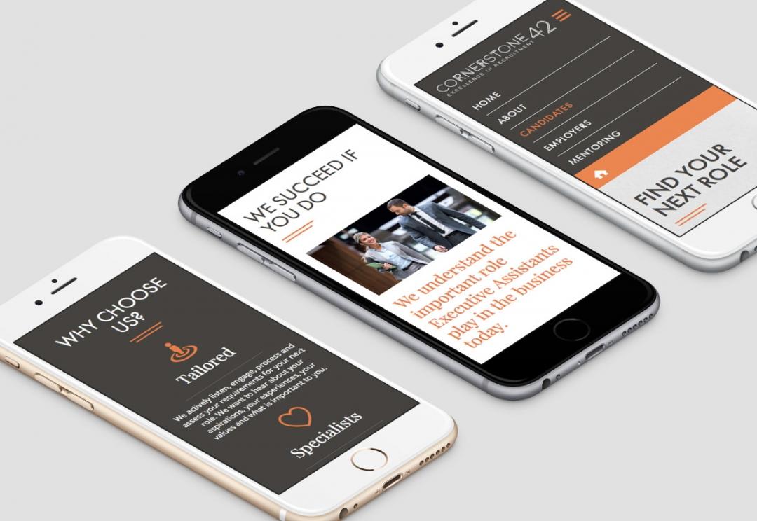 Recruitment agency responsive website design