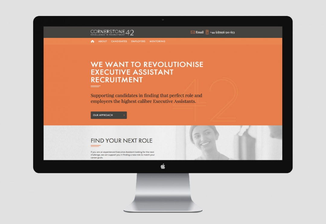 Recruitment agency website design