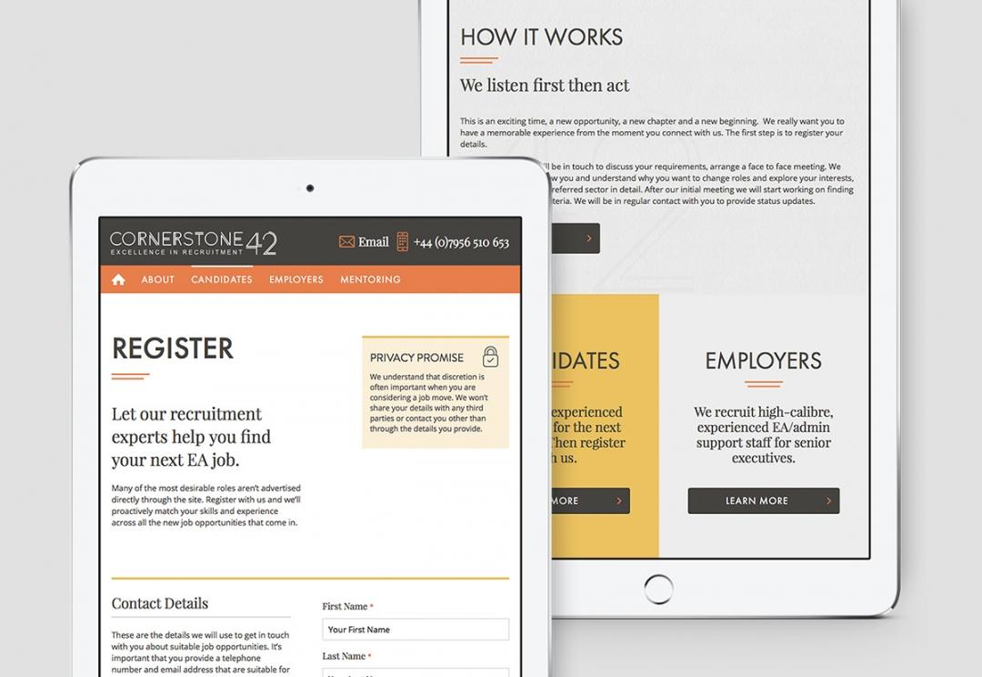 Cornerstone42 - candidate registration form