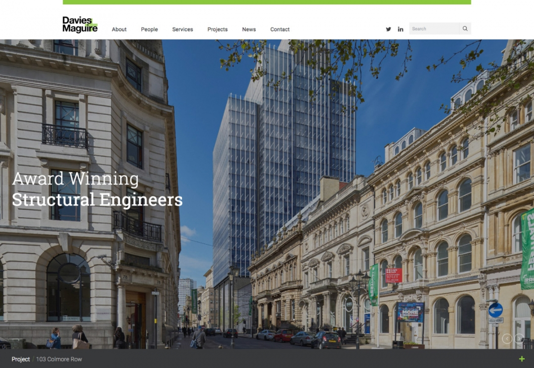 Engineering consultants website design