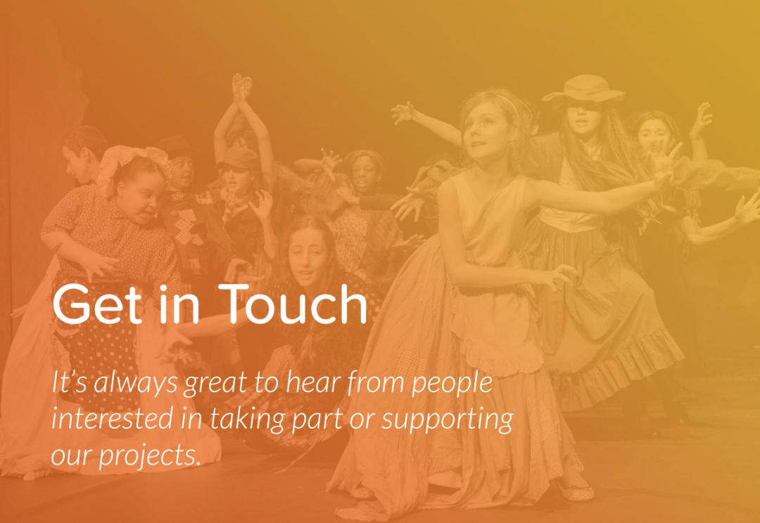 Youth arts organisation website design