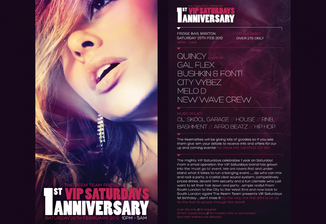 Nightclub event flyer design