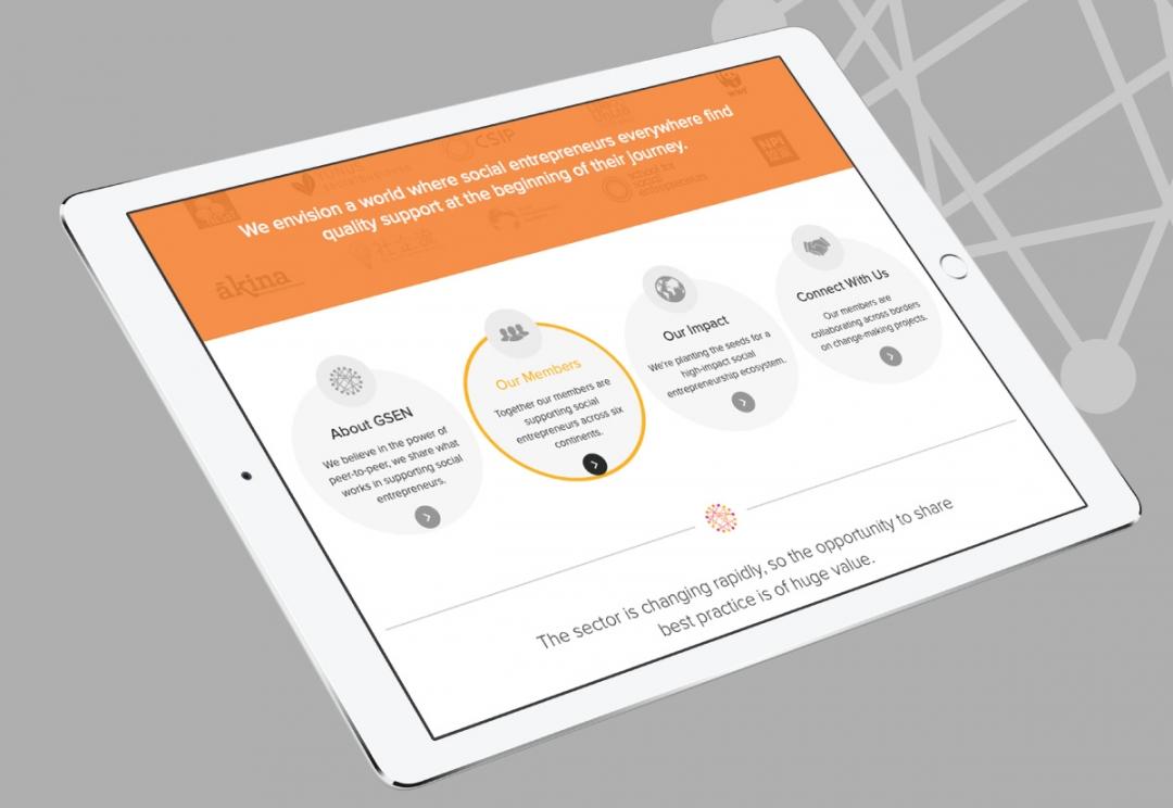 Social entrepreneurship network website design