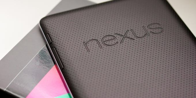 Google Nexus 7 tablet - rear view
