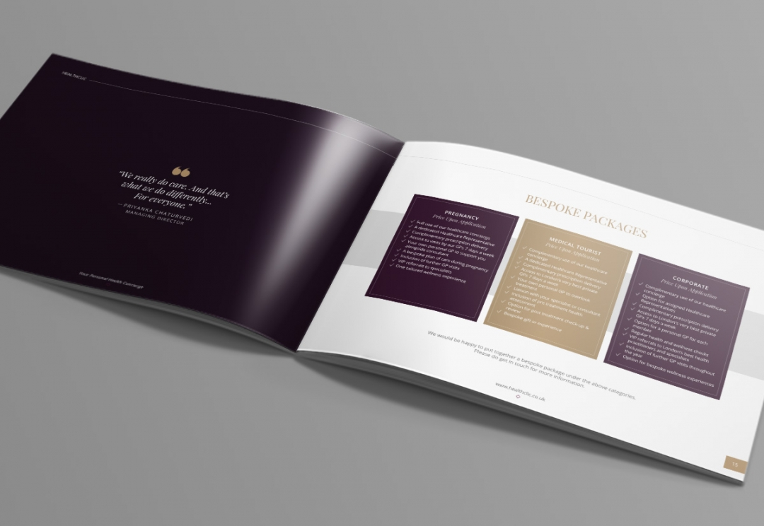 Private healthcare brochure design