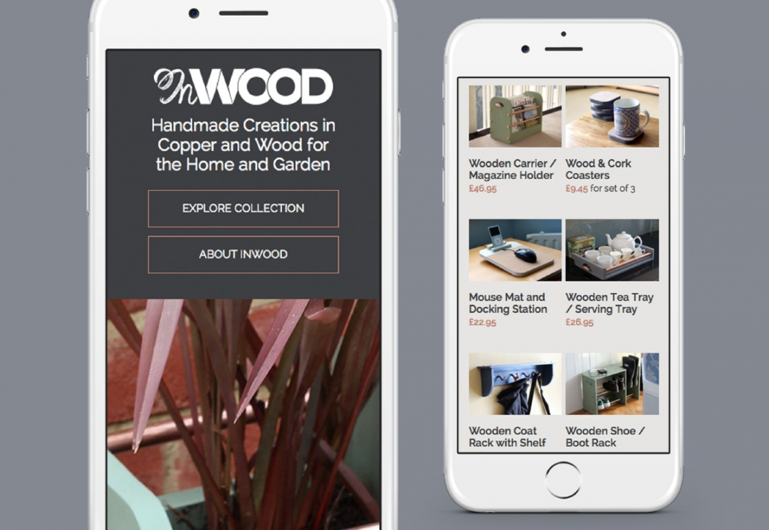 Home and garden products responsive website design