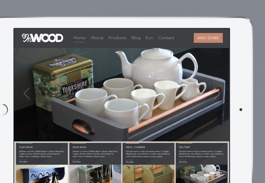 Home and garden products website design