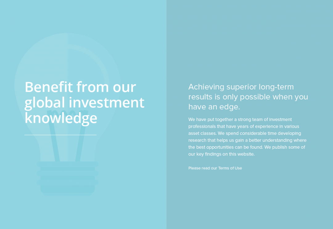 Wealth advisory firm website design