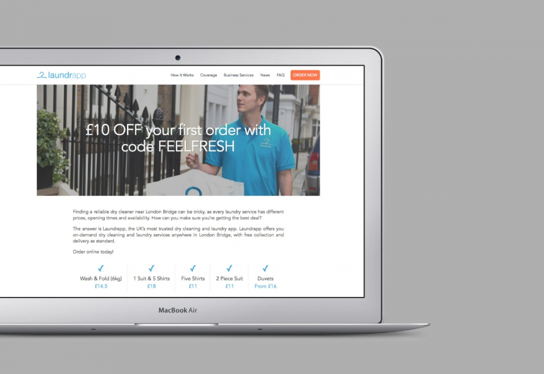 Tech start-up website design