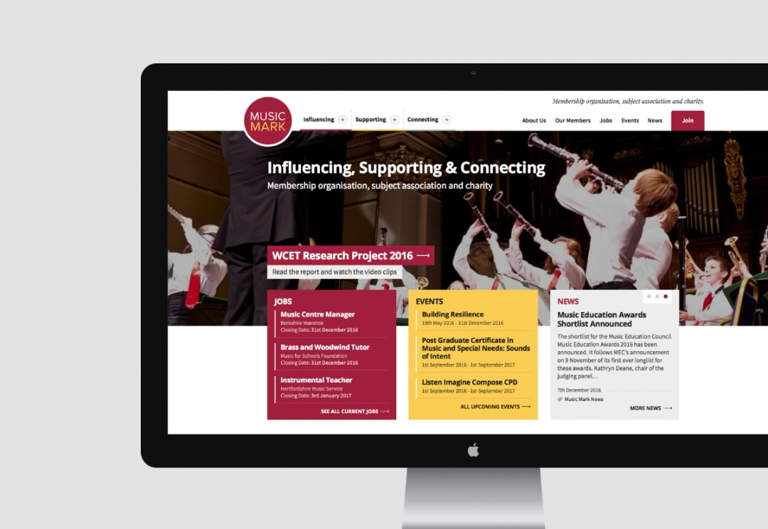 Music organisation website design