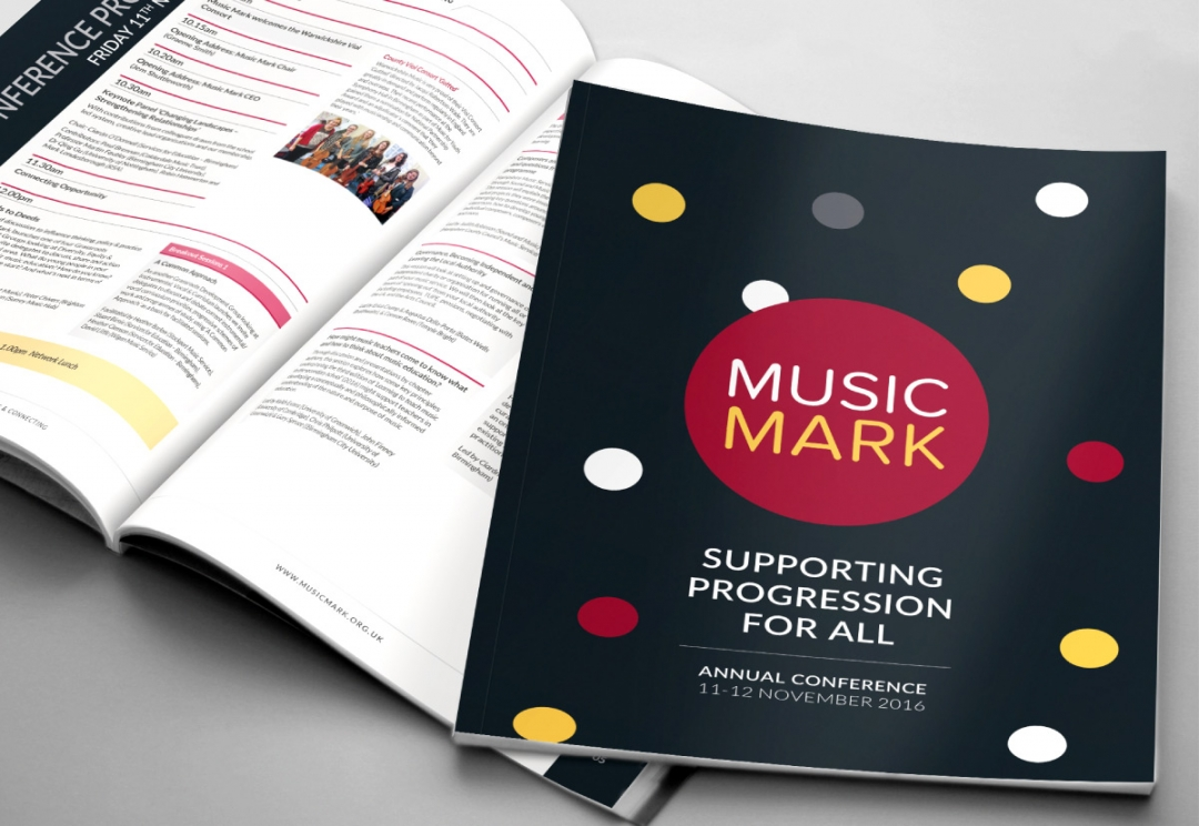Music organisation conference brochure