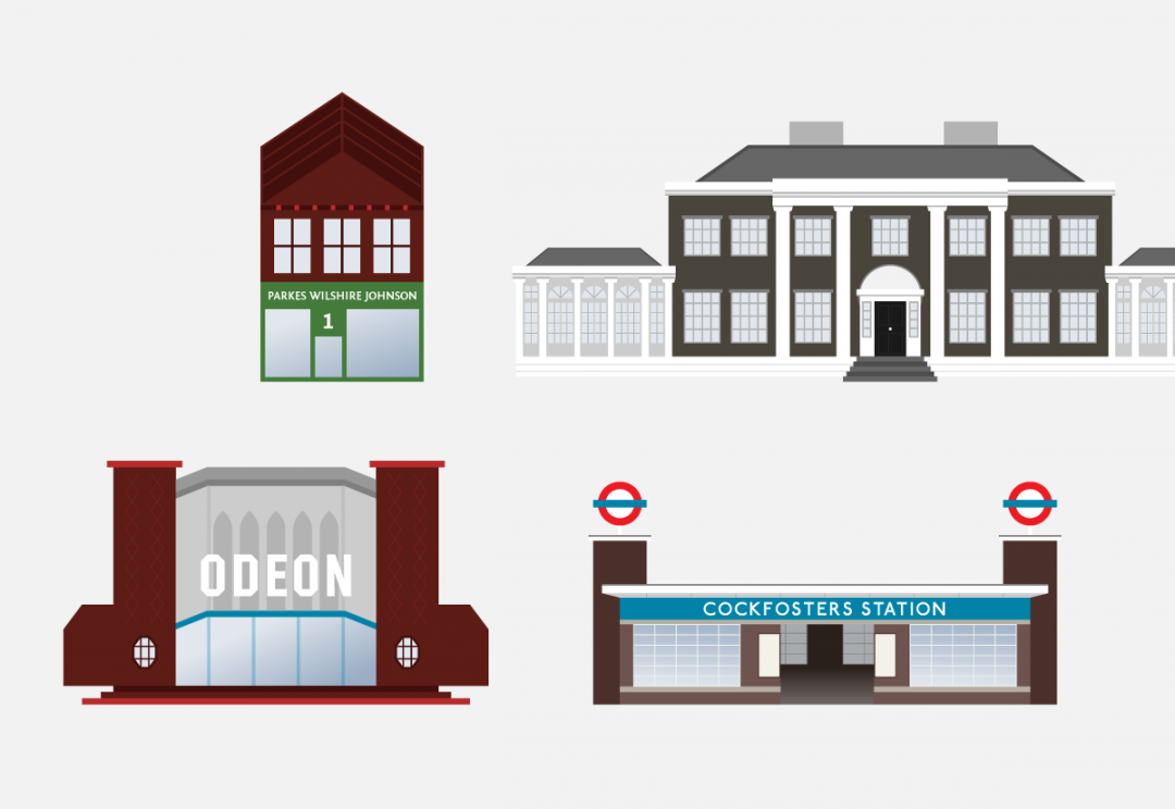 North London building illustrations