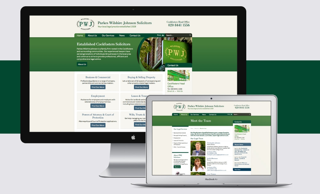 Solicitors website design