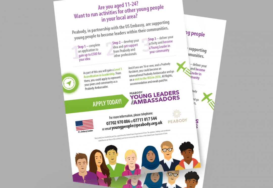 Youth engagement project flyer design