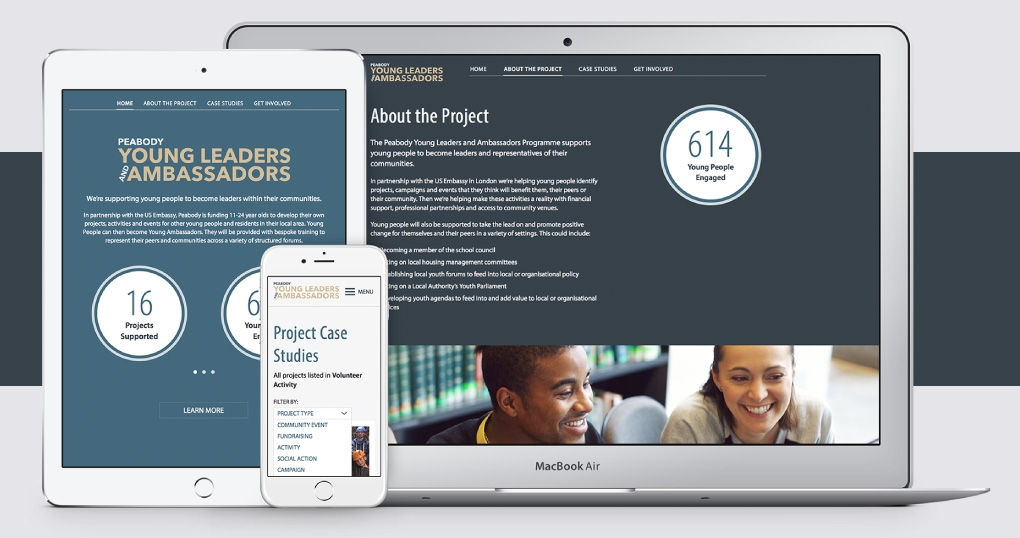 Youth engagement responsive website design