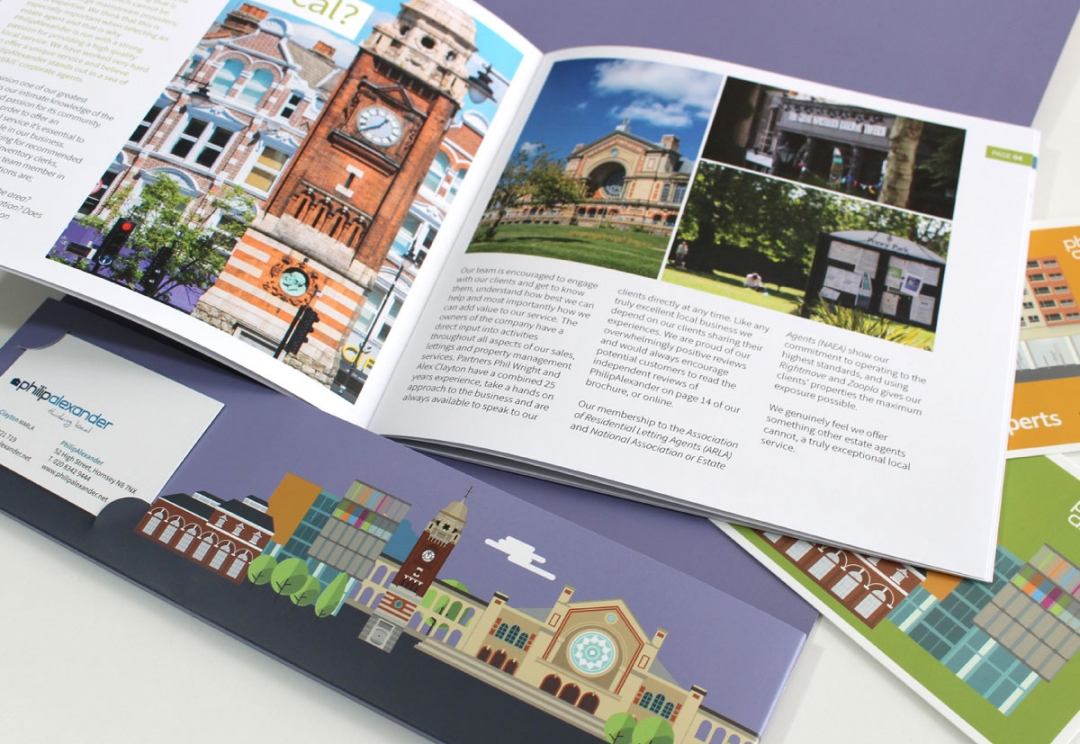 Estate agent brochure and folder design