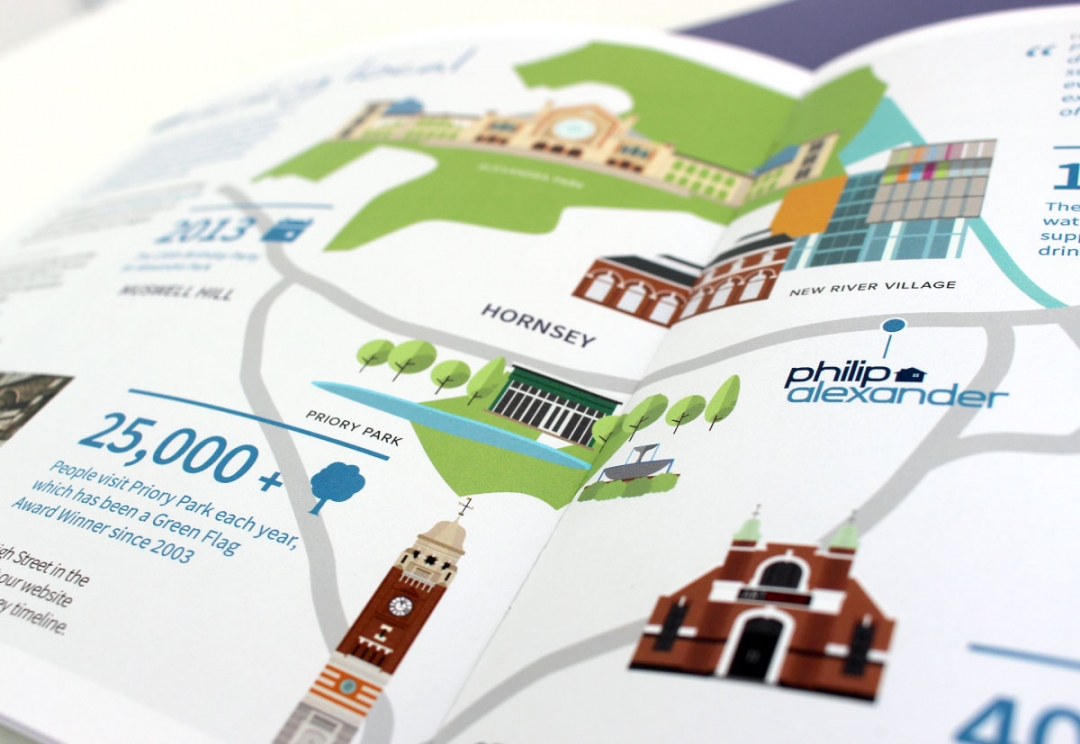 Estate agent brochure and map design