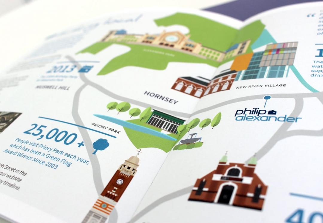 Estate agent brochure and map design