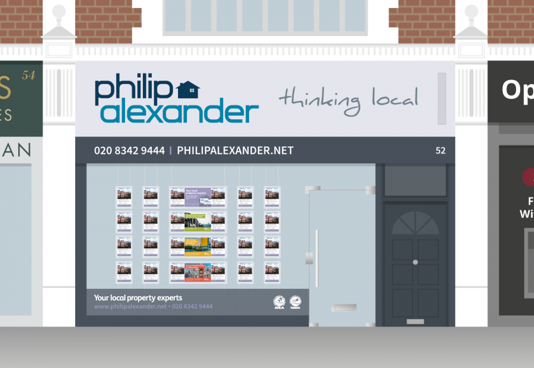 Estate agent shop front design