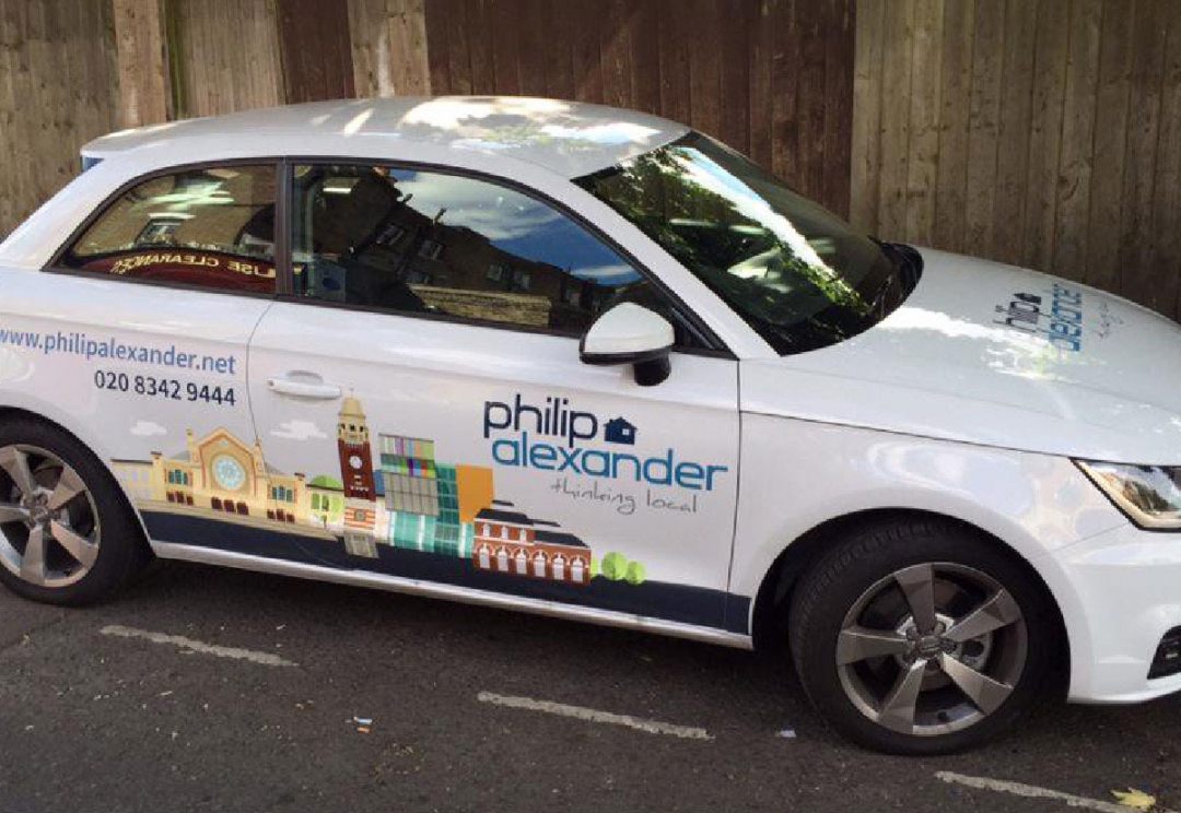 Estate agent car livery design