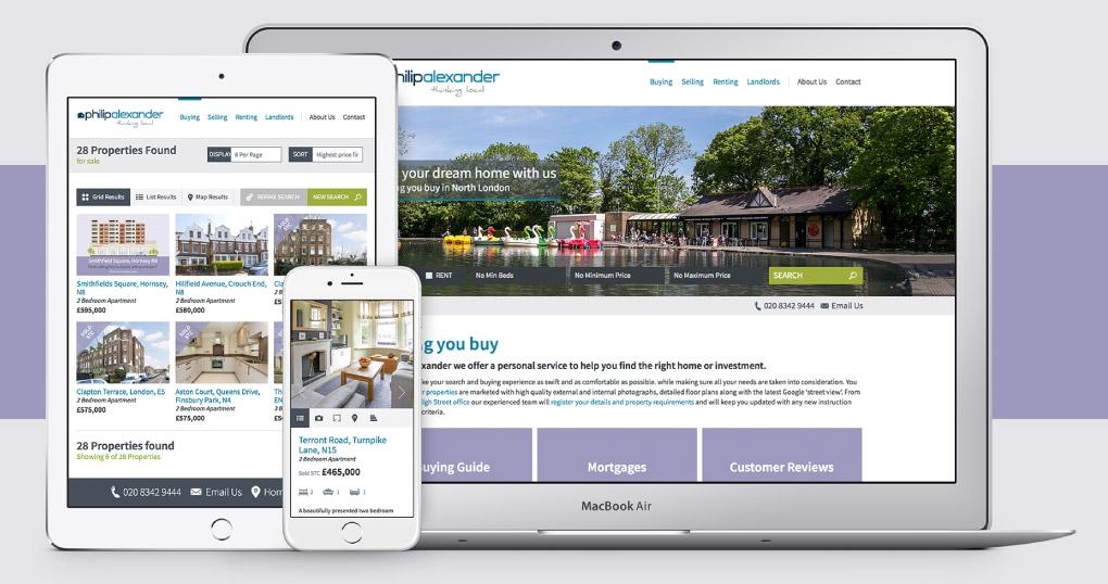 Estate agent responsive website design