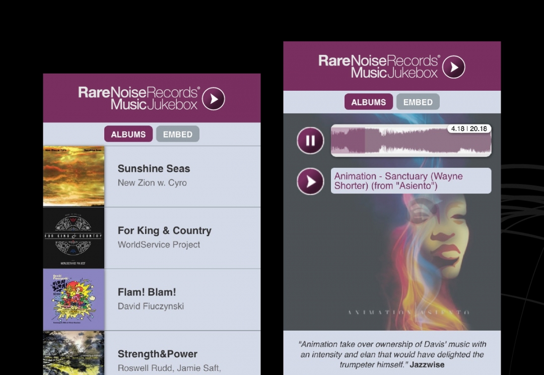 Record label web app