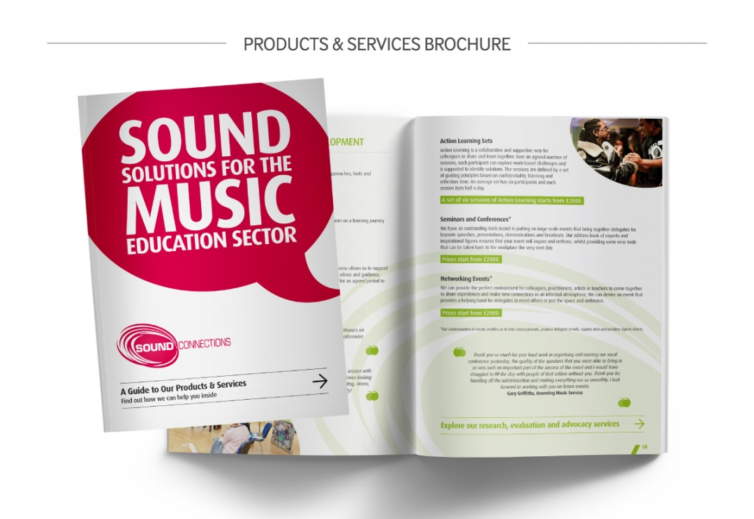 Music organisation charity brochure design