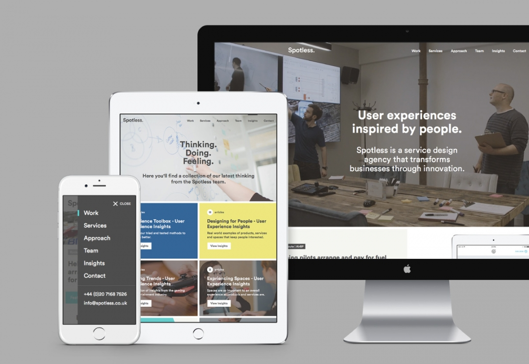 Service design agency responsive website design