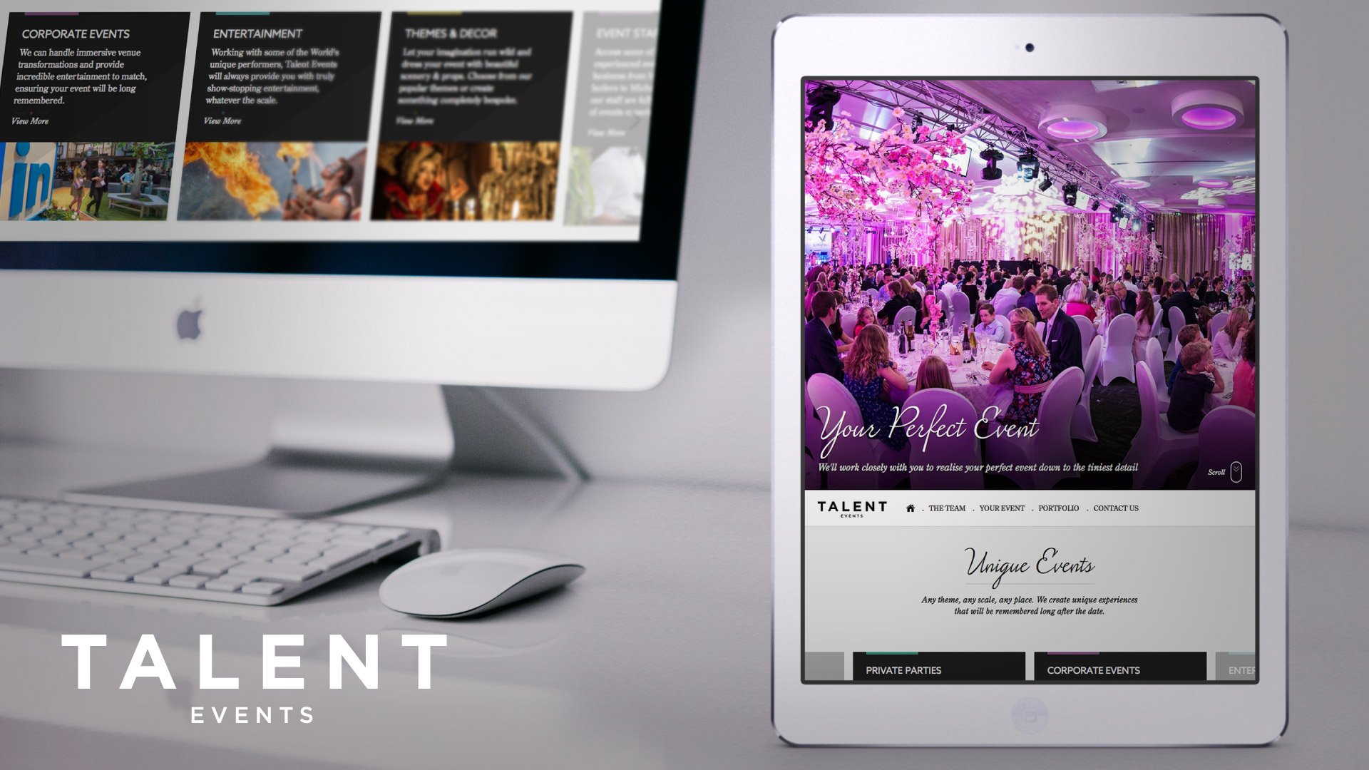 Event organisers website design