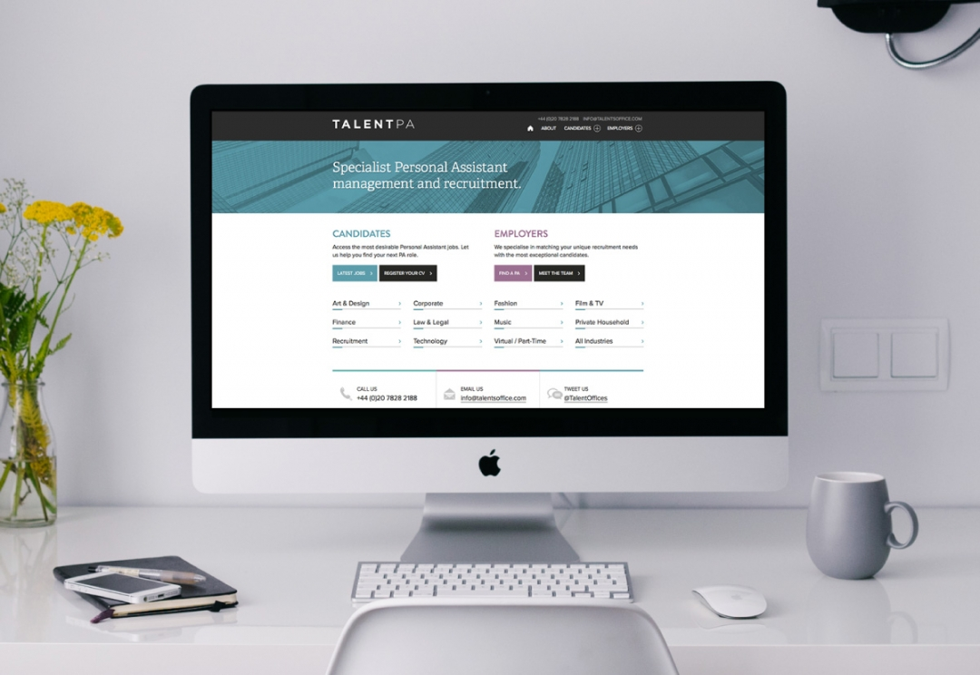 Recruitment agency website design