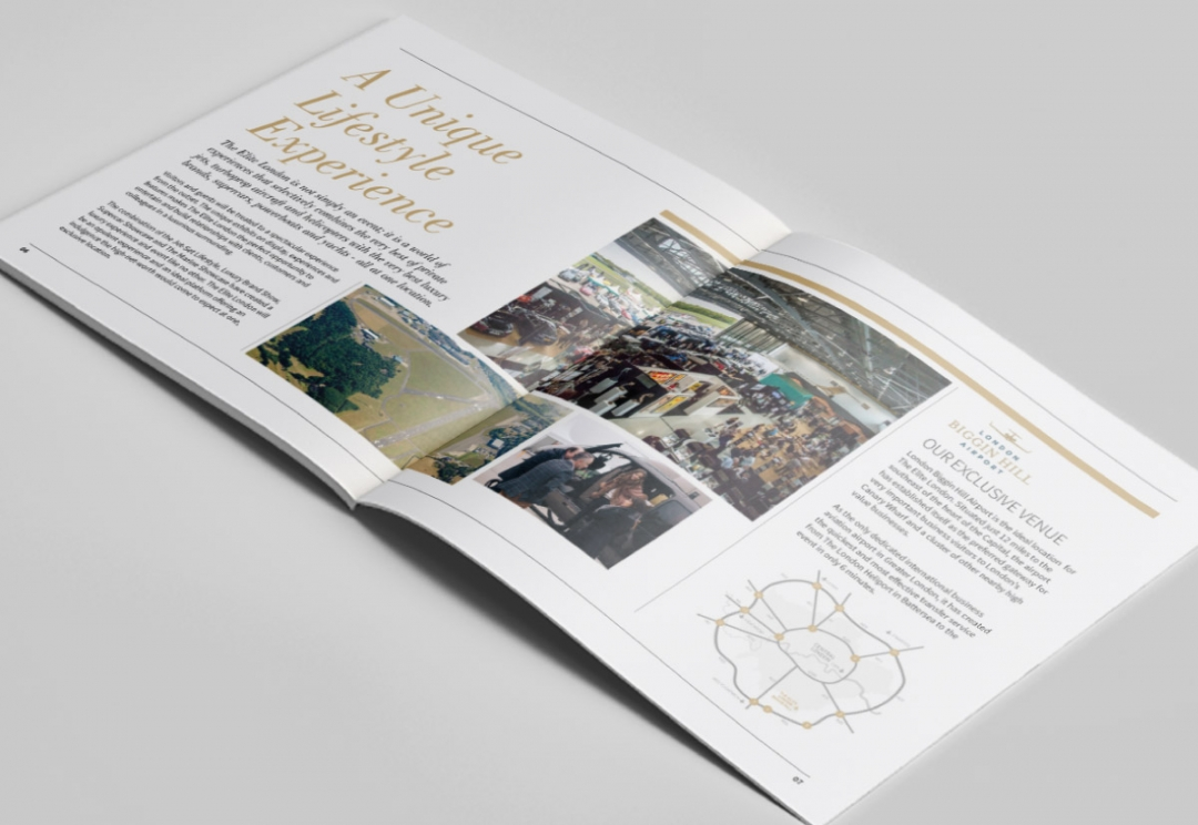 Lifestyle event brochure design