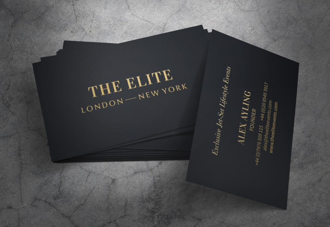 Lifestyle event business card design