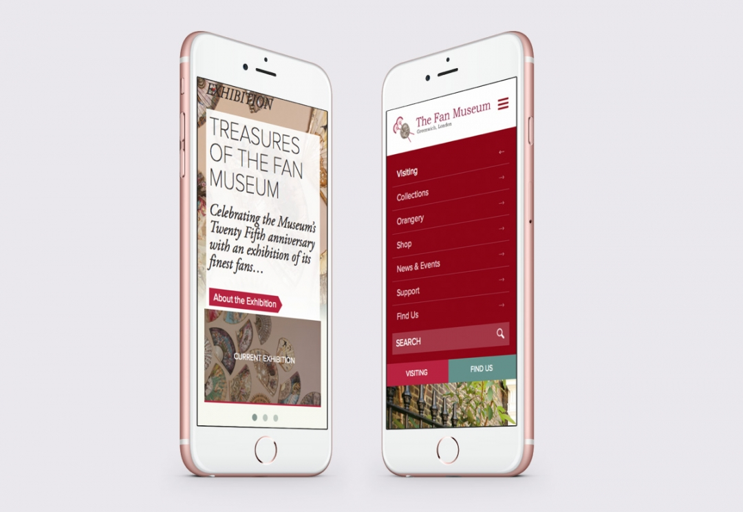 Museum responsive website design