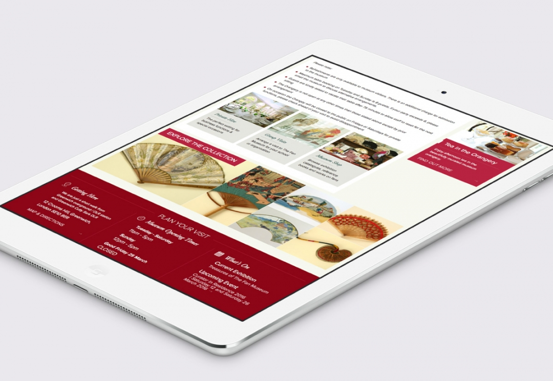 Museum website design