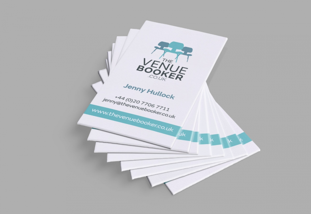 Venue finding service business card design