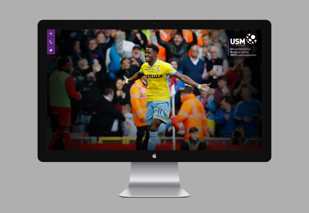 Football agency website design